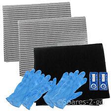 Cooker Hood Filter Kit for LOGIK Extractor Fan Vent Grease Carbon Filters