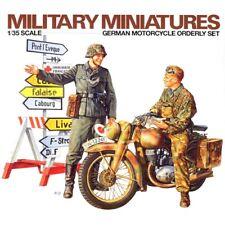 1/35 UNPAINTED Model Kit WW2 NAZI GERMAN SOLDIERS MOTORCYCLE SET 2 FIGURES