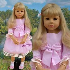 "Masterpiece Dolls Amber, Blonde by Monika Levenig 39"" Full Vinyl Doll In Stock"