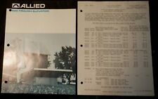 Allied 225 Trough Elevator 2-page Brochure and 2-page Price Sheet Original Clean
