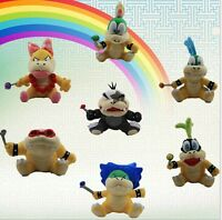 "7pcs IGGY MORTON WENDY LEMMY ROY LUDWIG LARRY 6-7.5""MARIO BROS KOOPALINGS PLUSH"