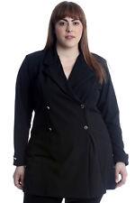 New Womens Plus Size Coat Ladies Blazer Jacket Formal Plain Long Sleeves Office