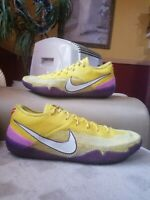Nike Kobe ad Nxt 360 Mens size 13 Lakers Yellow and Purple Basketball shoes