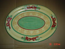 Villeroy And Boch MERRY WINTER Huge Platter #1 Bows Mistletoe And Holly