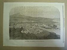 La città di Catania a volo d'uccello. - 1865 - L'Emporio pittoresco