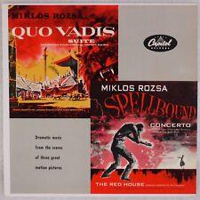 MIKLOS ROZSA: Quo Vadis / Spellbound Soundtrack Capitol Mono '56 Vinyl LP