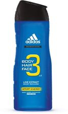adidas Male Personal Care 3-in-1 Body Wash Sport Energy 16 oz (Pack of 8)