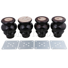 Wooden Gourd-shaped Furniture Legs Coffee Table Set of 4 Black 9x6.5x3.7cm