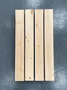 "Set of 4 x Pine, Wood 4"" Square Table Legs (WT023L )"