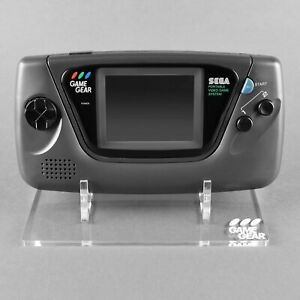 Display stand for Sega Game Gear console - Crystal Clear | Rose Colored Gaming