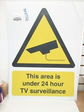 THIS AREA Security Sign, 24 x 18In, YEL and BK/WHT 1 PCS (8VPV2-FS1225)