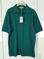 Lyle & Scott Men's Polo Shirt Size Medium Green Short Sleeve New with Tags Golf