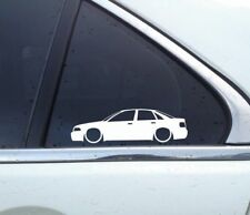 2x Lowered car outline stickers - for Audi A4 (B5) S4 sedan VAG