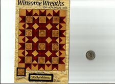 """WINSOME WREATHS Quilt Kit Pattern & Fabrics, Floss  Approx size 35"""" x 45"""""""