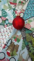 BAUBLES AND BOWS Christmas Fabric Blend Fabrics ~ 8 fat quarters 2 yards