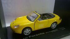 CARARAMA 1:43 AUTO DIE CAST AUTO PORSCHE 911 CONVERTIBLE GIALLO ART 250
