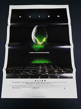Alien 1979 * Ridley Scott * Sci-Fi Horror * Tri-Folded 1 Sheet C10 Mint Unused!