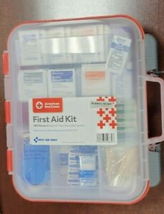 American Red Cross Clear Front 358 Piece First Aid Kit Expires 2022