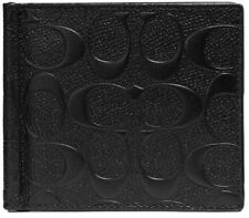 Bnew COACH Money Clip Billfold in signature leather, Black