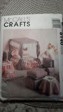"""McCall's 8140 Furniture for Your 11 1/2""""-12 1/2"""" Fashion Barbie - Bed NEW UNCUT"""