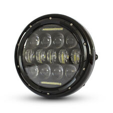 "Motorbike LED Headlight 7.7"" Projector for Cafe Racer Retro Custom Bike"