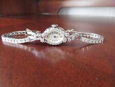 VTG Antique Hamilton Wrist Watch 14K White Gold 58 Diamonds 15.75 gr