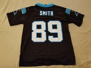 Boys NFL Steve Smith Jersey S Small Black Athletic Carolina Panthers