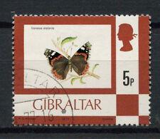 Gibraltar 1977-82 Sg # 380, 5p Mariposa definitivo Cto utilizado #a 77693