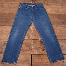 """Hombre Vintage 1970s Orillo Stonewash Blue Jeans Levis 501 32"""" X 30"""" R5004"""