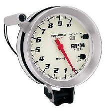 Equus 5 Inch Tachometer with Shift Light 8080 0-10,000 RPM White /Aluminum Bezel