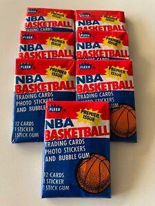 1986-87 Fleer NBA Basketball Unopened Wax Packs - Pick Sticker