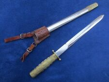Original Chinese Nationalist Army Or Navy Ray Skin Handle Dagger Scabbard & Frog
