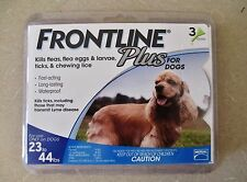Frontline Plus For Dogs 3 Doses For Dogs 23 to 44 lb (Kills Fleas Ticks & Lice)