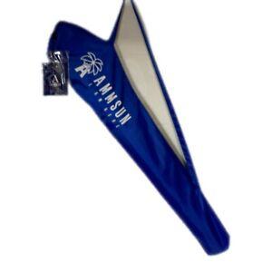 Ammsun Blue Twice Folded Portable Beach Umbrella