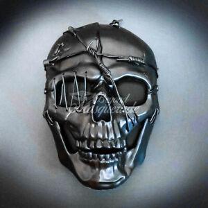 Steampunk Masquerade Mask Full Face Black Skull Party Costume Halloween Masks