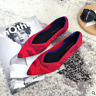 Pointed Toe Flats Environmental Womens shoes variety colors SIZE US 5.-7.5