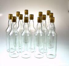 STILL SPIRITS Home Brew Spirit Bottles 1125ML Glass Round & Screw Cap  x12 Box