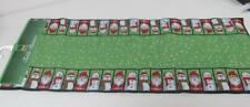 13 x 72 Table Runner Christmas Holiday Tapestry Green w/Santa Snowman Border NEW