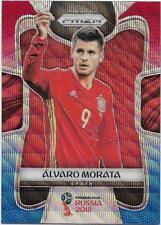 2018 Panini FIFA World Cup Blue Red Wave Prizm (199) Alvaro MORATA Spain