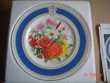 Royal Worcester Collectors Plate QUEENS SIXTIETH BIRTHDAY CELEBRATION BOUQUET #2