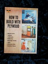 Mid-Century Modern 1956 How To Build with Plywood Bookcase Tables Cabinets Built