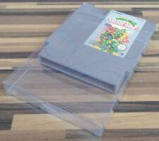 10 X Klarsicht Schutz Hülle 0,3 mm Dünn für Nintendo NES Spiel Modul Cartridge