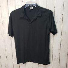 Ibex Men's Black Wool Blend Short Sleeve Shirt Size Medium Made In Usa