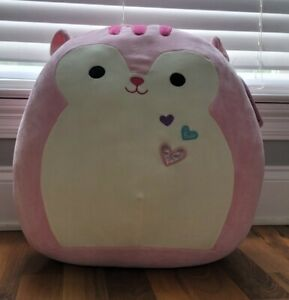 "Kellytoy Squishmallow 16"" Sarah Pink Squirrel 🐿 Valentines RARE Plush NWT"