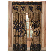 Browning® 3D Buckmark Lined Camo Curtains / Drapes Rod Pocket Deer Logo Outdoors