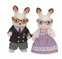 SYLVANIAN FAMILIES CHOCOLATE RABBIT GRANDPARENTS SET TOY