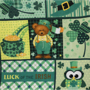 St Patrick's Day Fleece Throw, 50 in x 65 in , Luck of The Irish