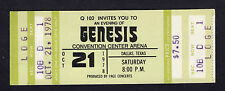 1978 Genesis unused full concert ticket Dallas TX  And Then There Were Three