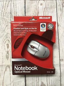 New Microsoft Notebook Optical Mouse M20 Old Stock Brand New Wired
