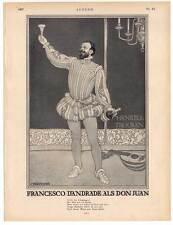 """- SPUMANTE pubblicità con loghi HENKELL secco-da """"gioventù"""" 1907 Don Giovanni-Teatro"""